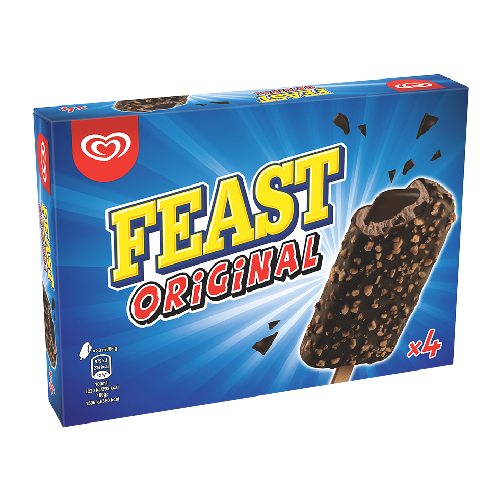 Feast Chocolate X4 Multipack Wall S Uk
